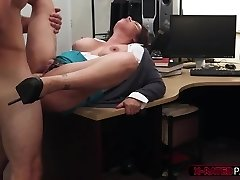 Big tits and gorgeous MILF gets her tight pussy hammered by Shawn