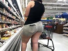 Wide Butt BBW Latina with Ass Gobbling Cut-offs Part 1