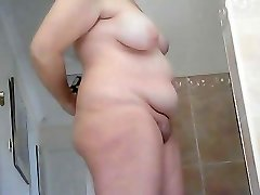 Chunky mature wifey before and after douche