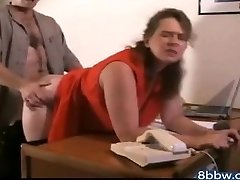 German BBW Buttfuck Creampie