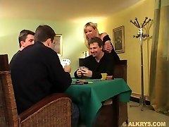 Elsa Kryss- Wife banged by two Hubby Friend