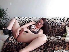 Hot Immense Udders Teacher Toying Her Holes