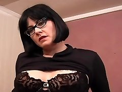 Tattooed Plump MILF Glasses - Dildo Play