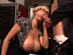 Ginormous tit milf wearing glasses