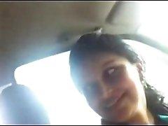 Desi Office Girlfriend with Boss in truck