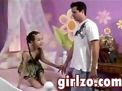 Highly young damsel is seduced by an older guy with really big dick
