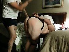 Naughty spanking big ass and big udders