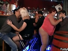 Massive group party with three bbw