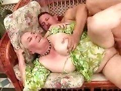Ancient Granny Enjoys Sex Poolside
