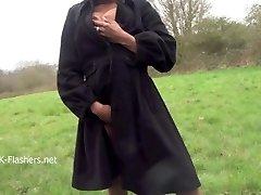 Dark-hued babe Michelles public flashing and black hotties outdoor masturbation
