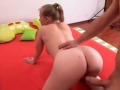 fatty dame with sensual tits in anal act