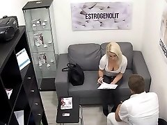 Breasty Blonde Seduces Her Doctor