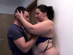 Obese and hot mature gets fucked hard by a young guy