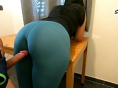 Step Mother teases, rubs because she just wants to be smashed by her Step Son again, loves cock too much