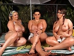 Angelina Castro OutDoors Oily trio and Sex Stories!