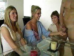 Three Moms Jerking Penis