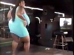 vintage big beautiful woman dancing