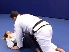 Sumptuous Megan Fenox lures her wrestling coach
