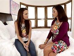 Lesbians Dillion Harper And Ariella Ferrera