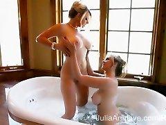Two Very Wet MILFS! Julia Ann & Vicky Vette