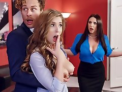 Angela Milky & Lena Paul & Michael Vegas in Porn Logic - Brazzers