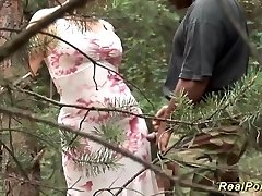 big-chested stepmom loves sex in nature