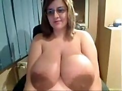 Ugly Chick shows off insanely huge bra-stuffers