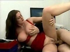 Voluptuous German MILF pulverized in her office