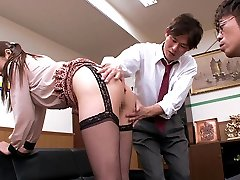 Luxurious Japanese whore Hina Akiyoshi in Hottest JAV censored Office, Big Bosoms video