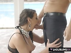 Spraying on big dick!
