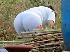 Snooping Mom Butt - Obese Plumper Granny - Mature Ass Booty