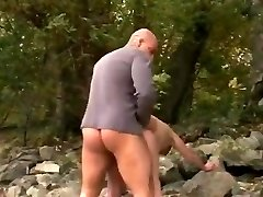 ROUGH BOINK #38 Thick Big Butt Granny at the Beach