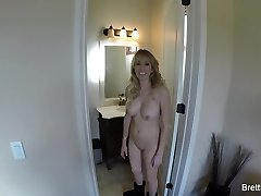 Behind the scenes with huge-chested Brett Rossi