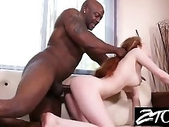 Teen Babysitter sucks BBC while the parents are away