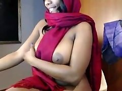 indian babe teases and onanism on
