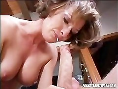 Saskia Deep Throats A Rock-hard Cock