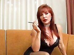 Mature Vanessa smoking and boning