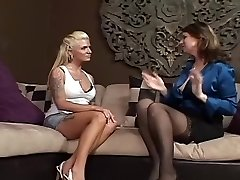 Outstanding Girl-on-girl Mature & Milf xxx scene