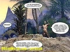 CRETACEOUS Penis 3D Homosexual Comic Story about Young Scientist Fucked by Caveman!
