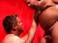 Two hot daddies romping