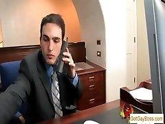Blond fellow sucking his boss for pay raise part5