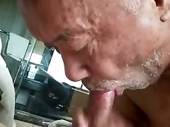 Chinese Grandpa Fucked by Dad