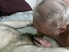 Chubby Grandad Gets His Backside Stuffed