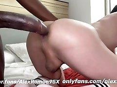 Big black dick in milky ass