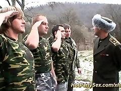 Gal gets soldiers cum