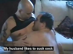My chubby husband loves to engulf cock and feet