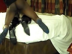 Sexy Black Tranny fucked hard in the ass