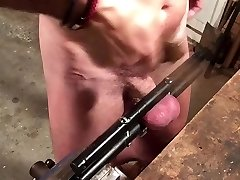 whipping balls 200 times with leather belt - by instruction
