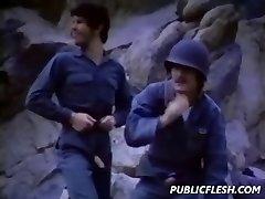 Antique Homo Military Mutual Masturbation
