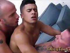 Max Cameron & Cam Christou fuck Armond Rizzo - Gay Double Invasion Orgy